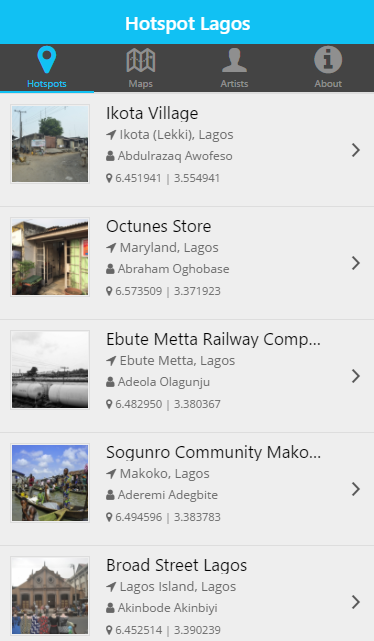 Hotspot Lagos- screenshot