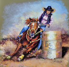 Photo: A commission piece for an anniversary present to a wife who was a barrel racer.