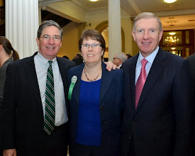 Photo: BBA Past President J.D. Smeallie (Holland & Knight), Betsy Soule (MetroWest Legal Services), and BBA President Paul Dacier.