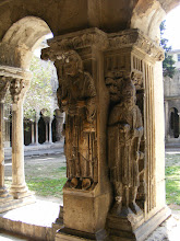 Photo: The cloisters is particularly renowned for the highly decorated corner pillars.