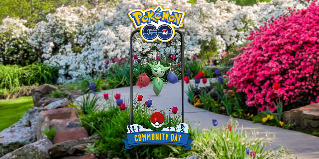 Roselia is the featured February Community Day Pokémon!