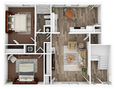 Floorplan image for Two Bed, One Bath