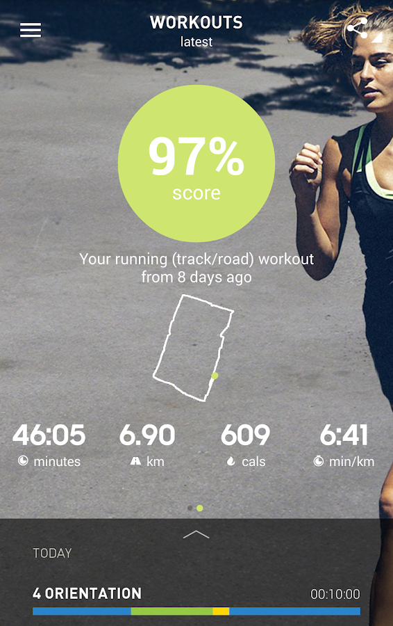 adidas train & run- screenshot