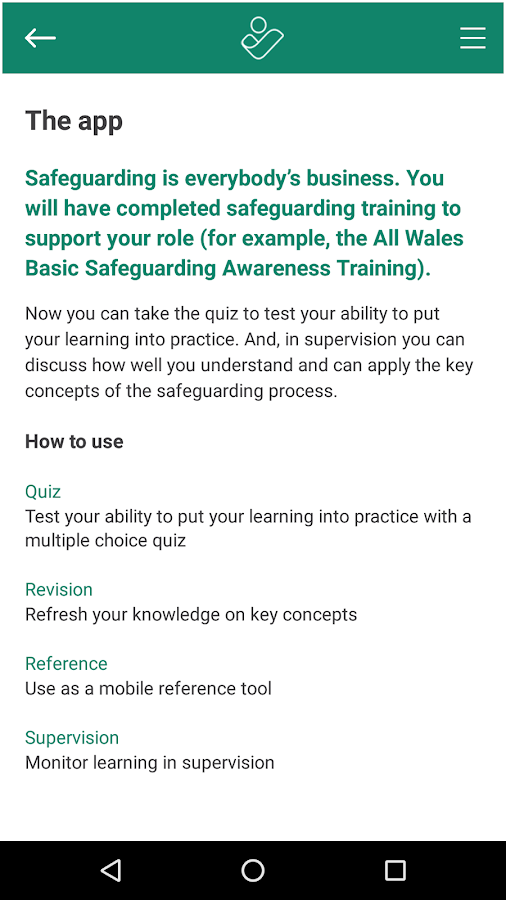 Safeguarding Quiz- screenshot