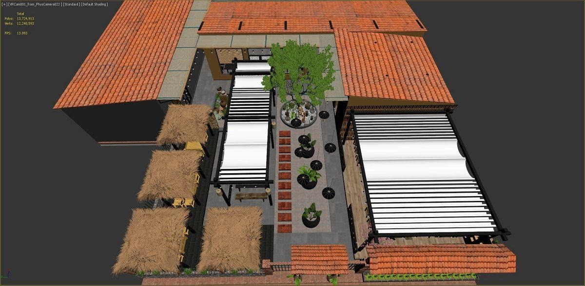 thiết kế nhà hàng đồng quê 1
