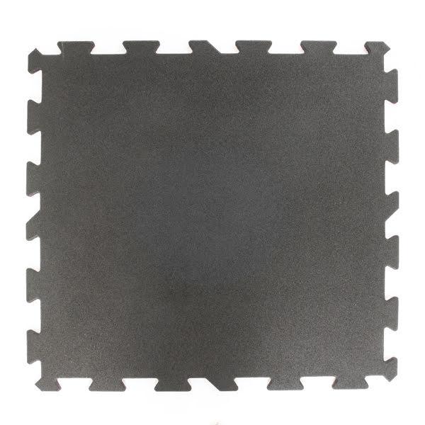 Gummigolv pussel 20mm, svart 1x1m