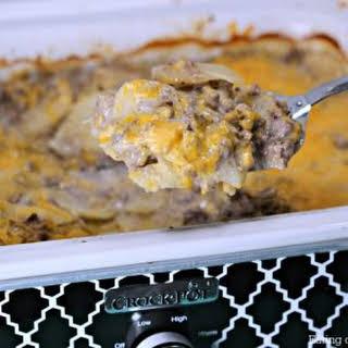 Crock pot Hamburger Potato Casserole.