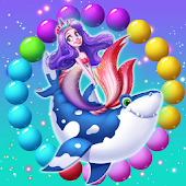 Mermaid Rescue Fish Pop Shooter 🐬