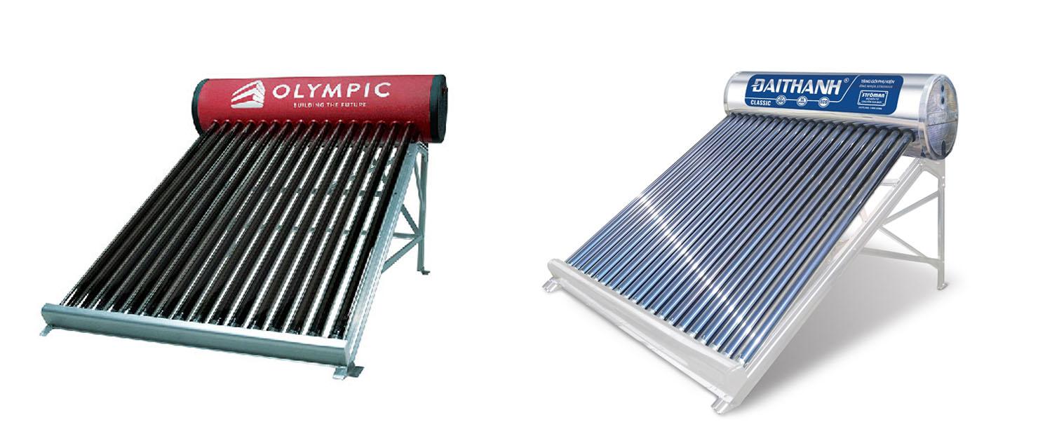 Máy năng lượng mặt trời Olympic và máy năng lượng mặt trời Tân Á Đại Thành