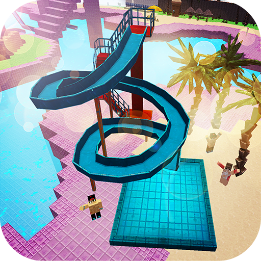 Water Park Craft: Waterslide Building Adventure 3D game (apk) free download for Android/PC/Windows