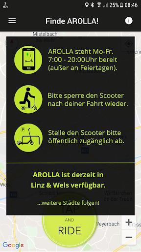 AROLLA - E-Scooter Sharing 1.12.11 screenshots 1