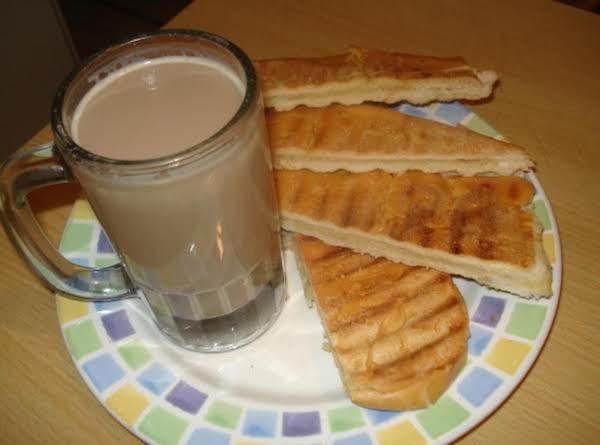 Cuban Cafe Con Leche & Toastada Cubana (cuban Coffee & Milk & Cuban Toast)