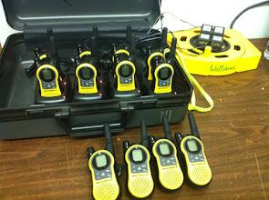 Photo: Yellow Motorola radios walkie talkie set