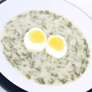 Sorrel Soup With Sour Cream.