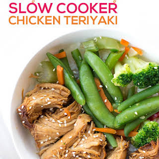 Easy and Healthy Slow Cooker Chicken Teriyaki.