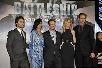 Photo: Taylor Kitsch, Rihanna, Peter Berg, Brooklyn Decker, and Alexander Skarsgård at the World Premiere of Battleship.