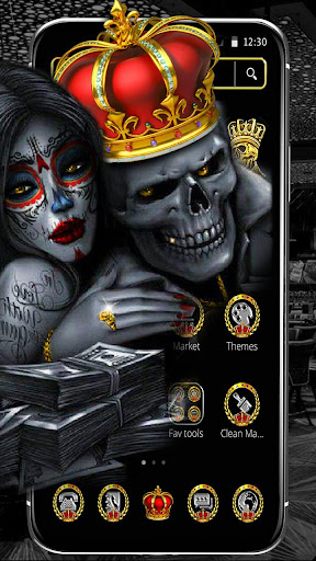 Screenshot for Gold Skull King Theme in United States Play Store