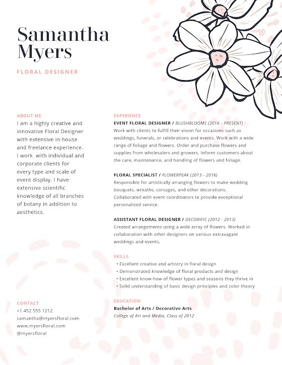 Samantha Myers - Cover Letter Template