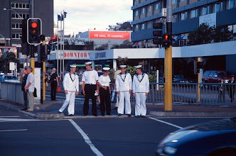 Photo: Are they sailors, or do they just work in a restaurant?