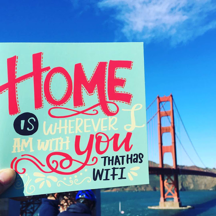Home is whenever I am with you that has WIFI