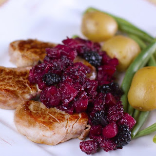 Pork Medallions with Blackberry and Apple Sauce