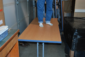 Photo: Stand on it, work on it, it can take it, because our honeycomb core is lighter than wood and as strong as metal