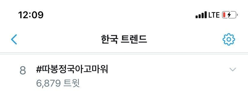 twitter korea trend