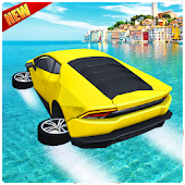 Water Surfer Car Floating Racer Game 2017