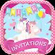 Unicorn Invitation Card Maker Free Download on Windows
