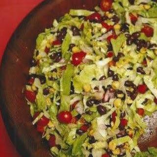 Black Bean Salad with Avocado-Lime Dressing.