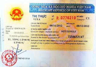 Photo: Vietnam visa!