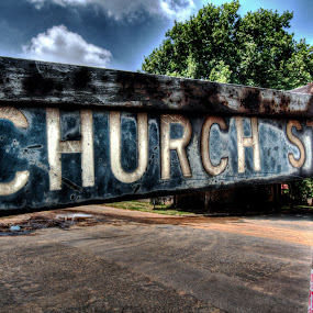 Church Street by Steven Butler - Products & Objects Signs ( sign, church, street, strretname )