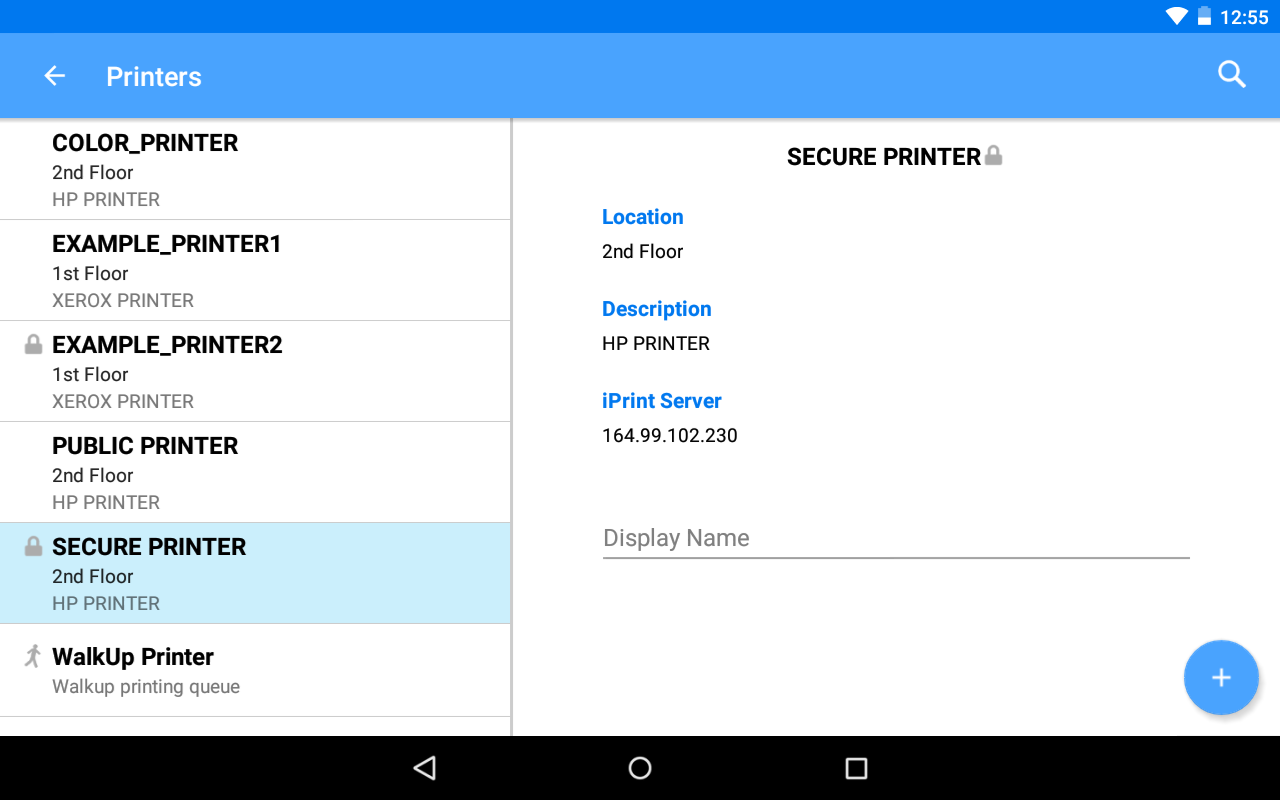 Micro Focus iPrint – Screenshot