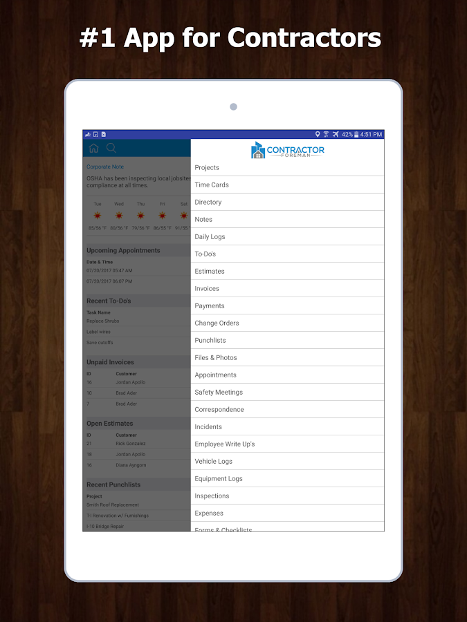 Contractor Foreman (All-in-One for Contractors)- screenshot