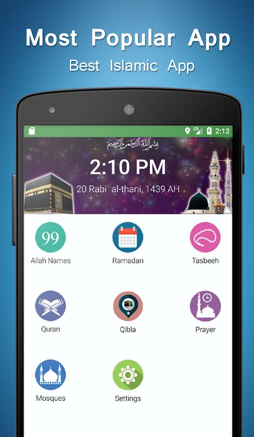 Muslim Prayer Timings - Qibla Compass- screenshot