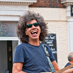 Busking Man by Tristan Wright - People Musicians & Entertainers ( musicians, glasses, male, busker, singer, candid, outside, entertainment,  )