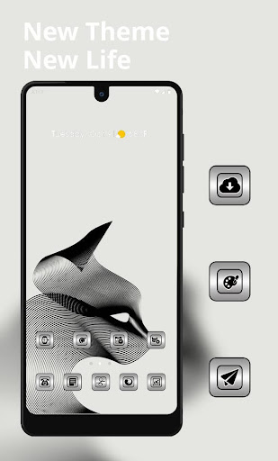 Abstract black line simple theme 2.0.50 screenshots 1