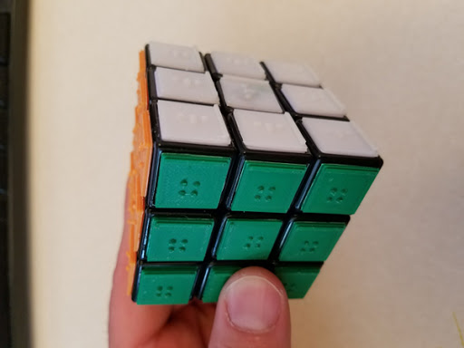 Rubik's Cube Braille Tiles