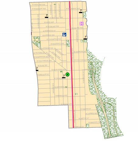 A map of the 48th Ward, which is generally bordered on Devon Avenue on the north, Sheridan Road on the east, Foster Avenue on the south and Clark or Broadway on the west.
