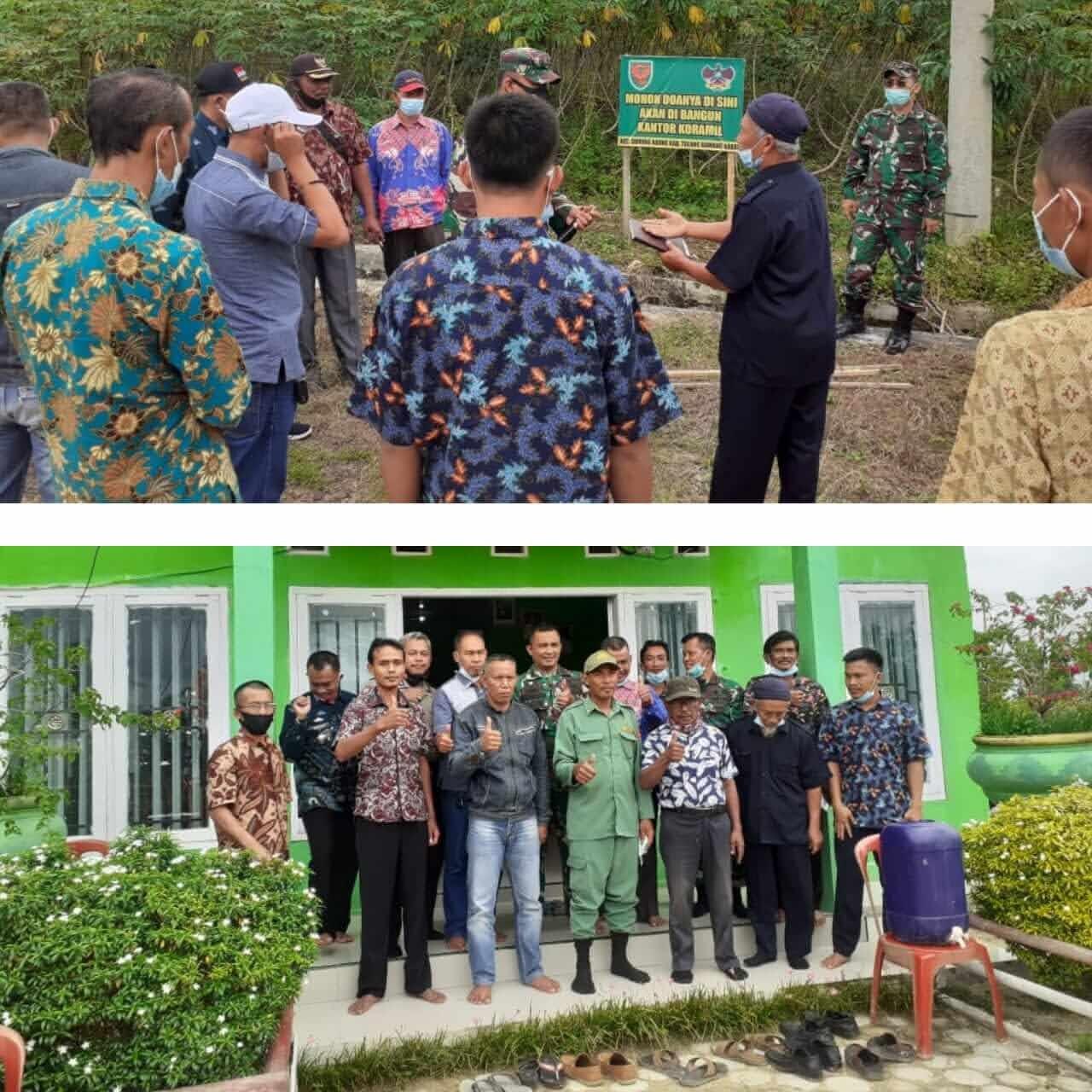 Dandim 0412/LU Tinjau Lokasi Untuk Pembangunan Kantor Koramil di Tiyuh Tri Tunggal Jaya dan Kibang Tri Jaya