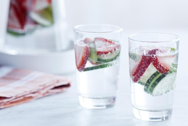 Strawberry Cucumber Basil Water Recipe