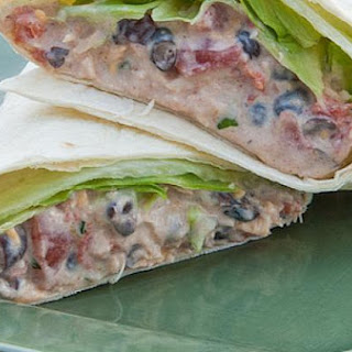 Chicken Enchilada Salad Wraps