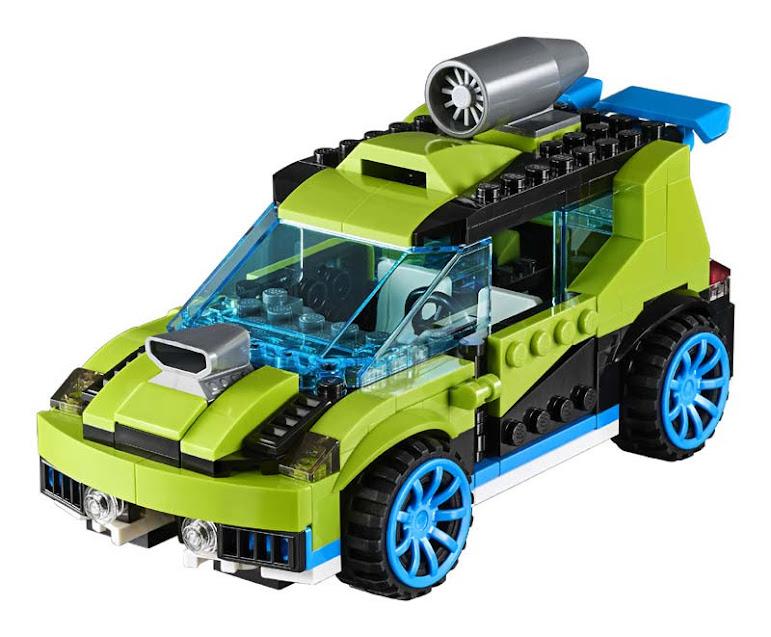 Contenido de Lego® 31074 Coche de Rallye a Reacción
