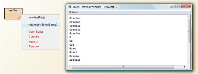 bucle for java