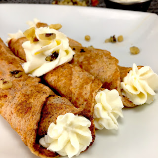 Carrot Cake Egg Crepes, High Protein And Low Carb.