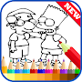 Draw Coloring for The Simpson APK icon