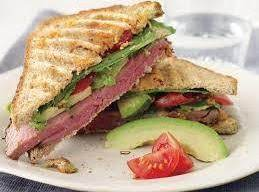 Roast Beef Panini With Avocado, Tomato, And Dijon Recipe