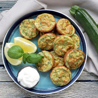 Healthy Baked Zucchini Fritters.