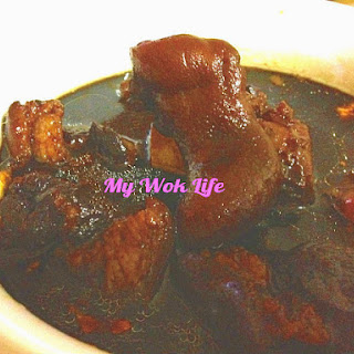 Pork Knuckle in Sweetened Black Vinegar with Ginger (猪脚姜醋)