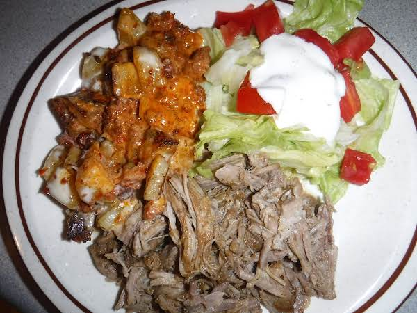Mexican Inspired Pulled Pork With A Green Chili Sauce.